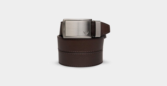 02.SlideBelts-Men's-Winged-Silver-Leather-Ratchet-Belt---Custom-Fit
