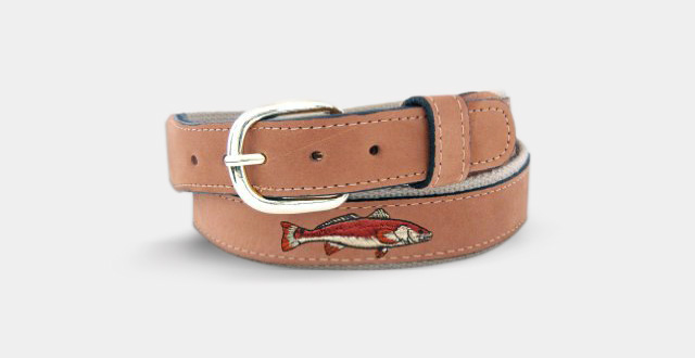 03.Zep-Pro-Men's-Tan-Leather-Embroidered-Marlin-Belt