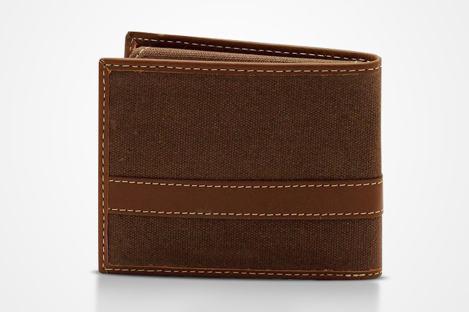 Buying mens canvas wallet
