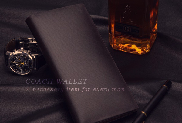 Coach wallet: A necessary item for every man.