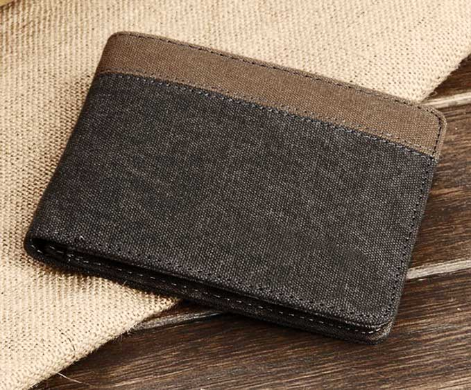 Daxin-Short-Canvas-Bifold-Purse-Credit-id-Card-Holder-Wallets
