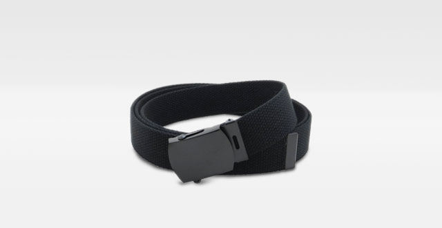 01.-Canvas-Web-Belt-Military-Style-with-Black-Buckle-and-Tip-56-Long-Many-Colors