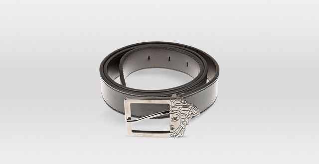 04.-Versace-Collection-Black-Leather-Silver-Half-Medusa-Buckle-Belt-Gift-Box