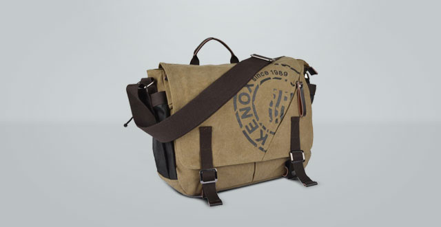 06.-Kenox-Canvas-Crossbody-Messenger-Bag-Laptop-Case-Backpack