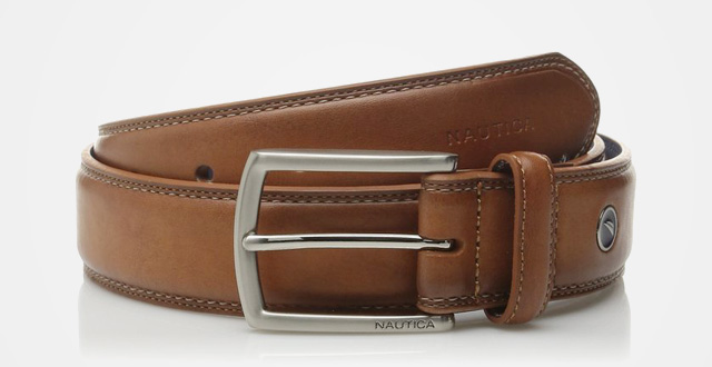 06.-Nautica-Mens-Feathered-Edge-with-Double---Stitch-Casual-Leather-Belt
