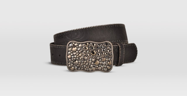 07.-Pewter-Jewel-Belt-Buckle-with-Embossed-Black-Leather-Belt