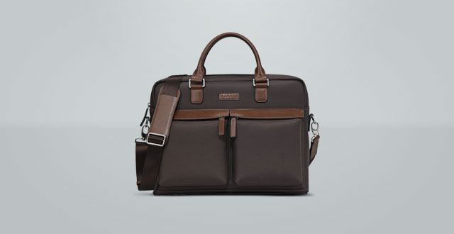08.-Banuce-Waterproof-Fabric-PU-Leather-15.6-Laptop-Briefcase-Front-Pocket-Messenger-Bag