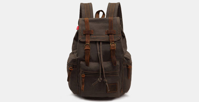 10,-EcoCity-Vintage-Casual-Canvas-Backpack-Rucksack-Bookbag-Satchel