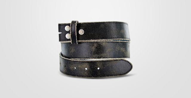 10.-Vintage-Look-Distressed-Leather-Strap-Belt-Snap-on-for-Buckles