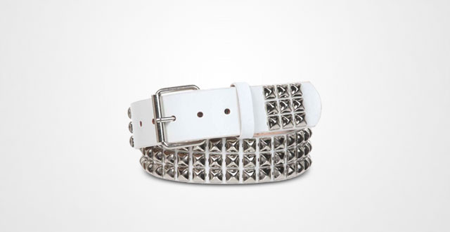 11.-Snap-On-Three-Row-Punk-Rock-Star-Metal-Silver-Studded-Leather-Belt