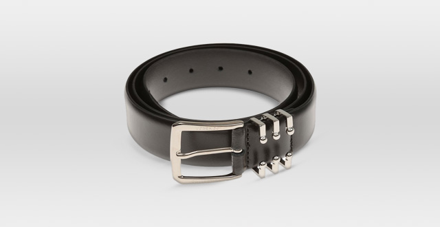 11.-Versace-Collection-Italy-Men's-Black-Leather-Silver-Buckle-Belt-Gift-Box