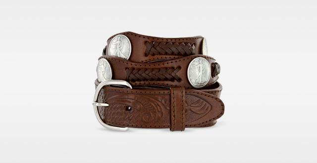 11.Walking-Liberty-Memorial-Coin-Concho-Western-Embossed-Leather-Belt