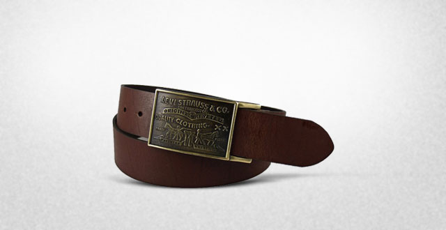 13.-Levi's-Mens-38MM-Plaque-Bridle-Belt-With-Snap-Closure