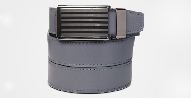14.-SlideBelts-Mens-Bar-Striped-Gunmetal-Leather-Belt---Custom-Fit