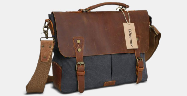 2,-Messenger-Satchel-bag-for-men-and-women,Vintage-canvas-real-leather-14-inch-Laptop-Briefcase
