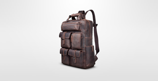 Best and stylish leather backpacks for men - Cool Men Style 2017. S-ZONE  Vintage Crazy Horse Genuine ... 0f48d713b9ac9