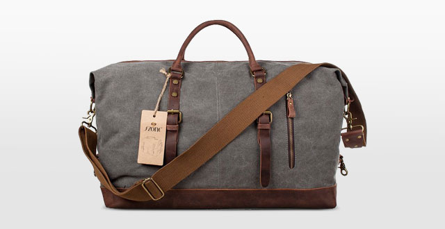 01.-S-ZONE-Oversized-Canvas-Leather-Trim-Travel-Tote-Duffel-shoulder-handbagWeekend-Bag