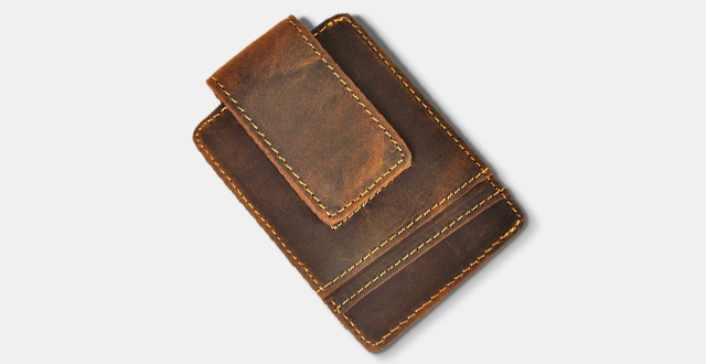 01-leaokuu-mens-genuine-leather-cowhide-magnet-money-clip-credit-case-holder-slim-wallet