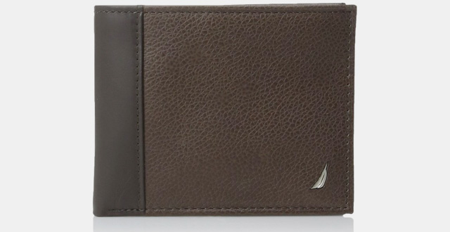 06-nautica-mens-milled-leather-passcase-wallet