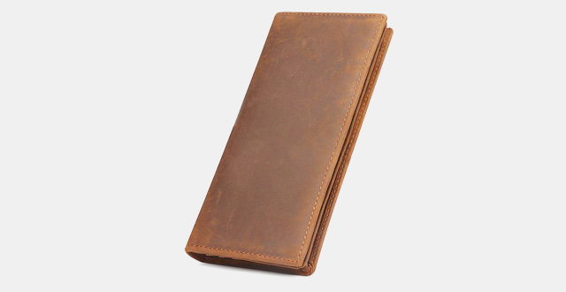 08-kattee-mens-vintage-look-genuine-leather-long-bifold-wallet