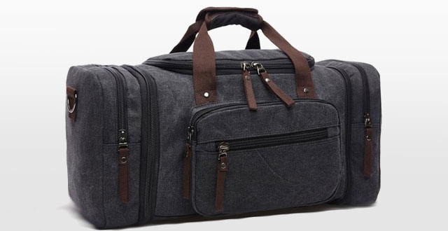 08.Aidonger-Unisex-Canvas-Travel-Bagwith-big-Capacity
