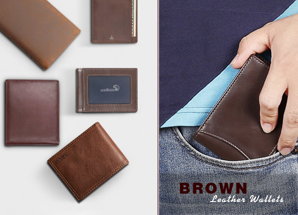 Popular brown leather wallets and their details