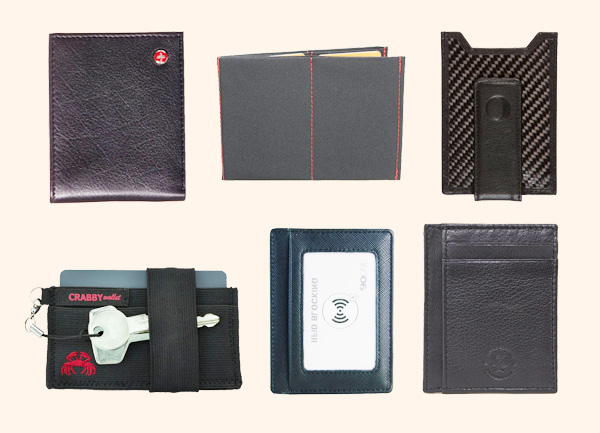 Slim wallets for man: Popular products and their features.