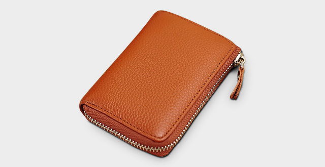 06-lecxci-menswomens-purse-holder-wallet-with-id-window-credit-card-pouch-zipper-leather-coin-change