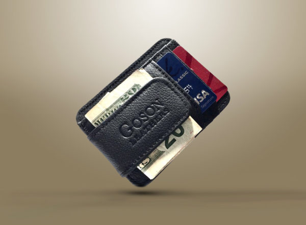Leather money clip wallet: Famous products and their features.