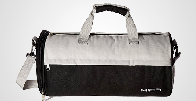 Much like All Stars, this is a simple style-forward men's gym bag crafted from coated cotton canvas and featuring reinforced suitcase-style carry straps, both top and size zippered openings, and an internal organizer to keep your gear in order. Joshu + Vela Small Duffle.