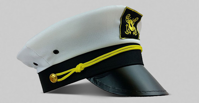 The Captain hat yacht captains cap boat sailing fishing hats by funny party  hats af684c868ee