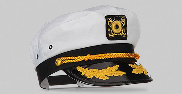 The Sailor ship yacht boat captain hat navy marines admiral cap hat white  gold 23400 83636c007fc