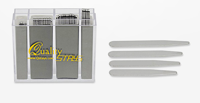 Order the Sizes You Need!! 36 Stainless Steel Collar Stays in Clear Plastic Box