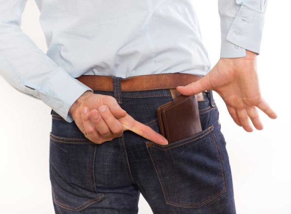 Unfavorable effects of putting wallet in your back trouser pocket