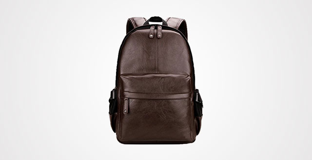 4c529f09ccdf Kenox Vintage PU Leather Backpack School College Bookbag Laptop Computer  Backpack