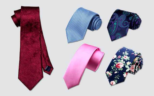 Mens Modern Art Pattern Neck Ties Printed Slim Skinny Ties for Men